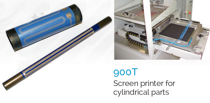 900T screen stencil printer for cylindrical parts
