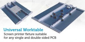 Screen printer fixture suitable for any single and double sided PCB