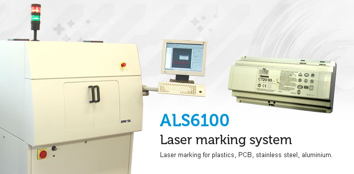 Laser marking systems for plastics, PCB, stainless steel, aluminium.