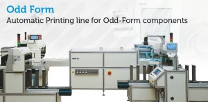 Automatic printing lines for odd-form components