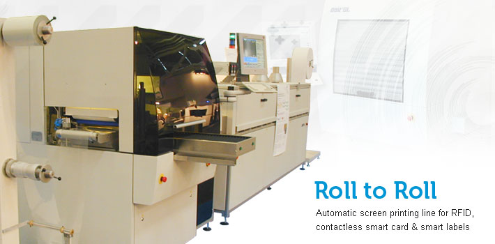 Roll to roll automatic line for smart card rfid