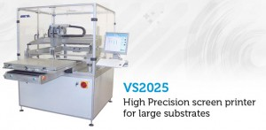 High Precision screen printer for large substrates