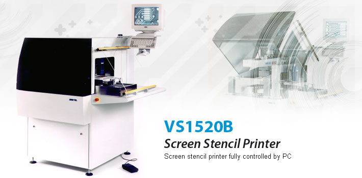 Screen stencil printer fully controlled by PC