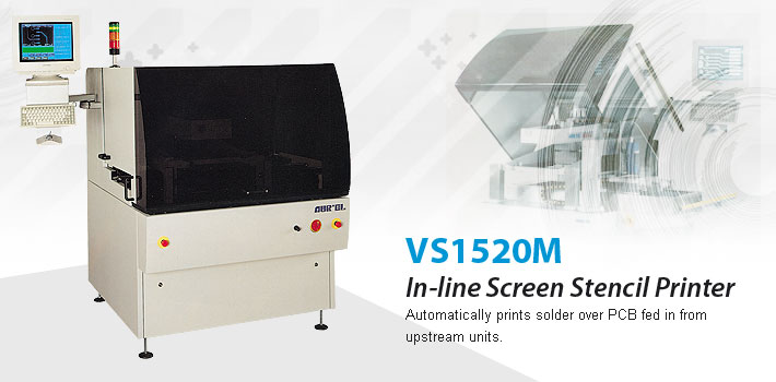 VS1520M in-line screen stencil printer