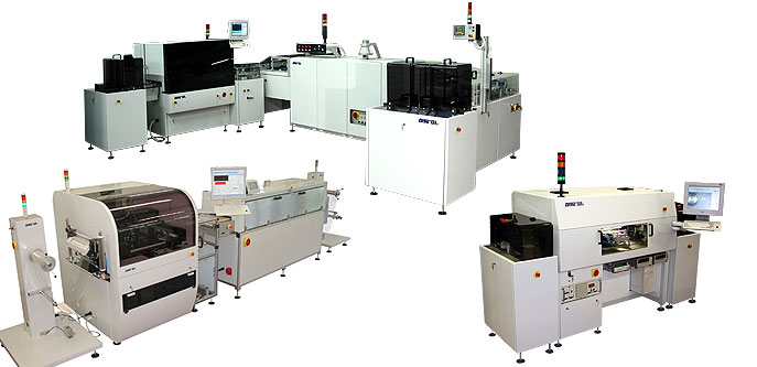 Automation systems for electronic production